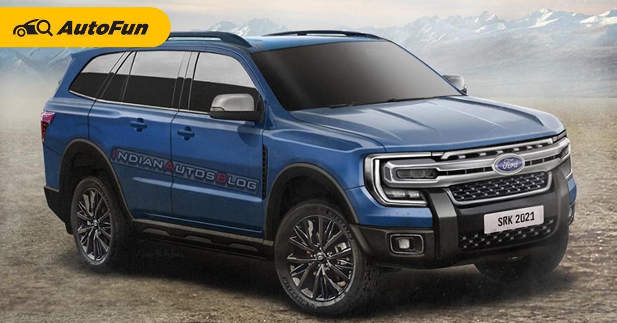 เรนเดอร์ 2022 Ford Everest ถอดแบบจากสปายช็อตใส่หน้า F-150 ดุดันกว่าเดิมหลายเท่า 01
