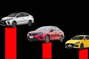 ส่องยอดขาย Sub-Compact Sedan ส.ค. 64 Toyota Yaris Ativ นำฉิวเฉียด แต่แพ้ยอดรวม Honda City