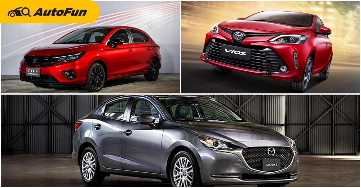 2021 Mazda 2 เพิ่มออพชั่นกล้องมองรอบคัน งานนี้ผ่อนคุ้มมั้ยเมื่อเทียบกับ Honda City Hatchback และ Toyota Vios 01