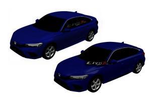 เทียบทรง 2021 Honda Civic รุ่นใหม่ ทั้งซีดานและแฮตช์แบ็ครูปสี ดูให้ดีมีจุดต่างเยอะ