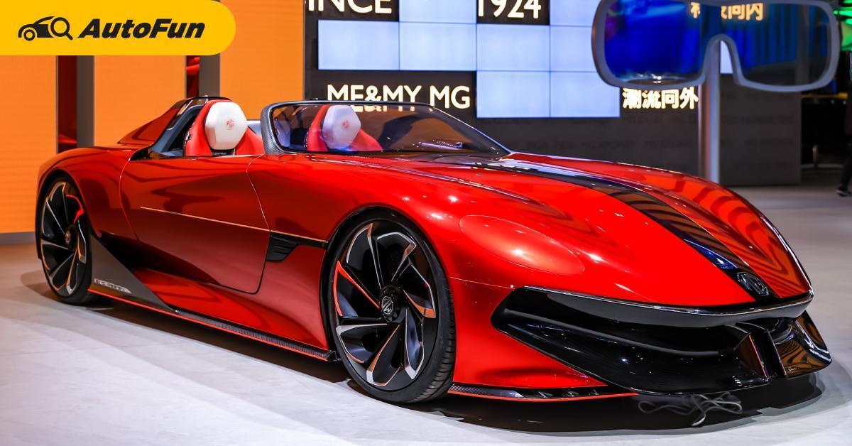 ชมภาพจริง MG Cyberster รถไฟฟ้าสุดล้ำ พร้อมร่วมลงทุนในงาน Shanghai Autoshow 2021 01