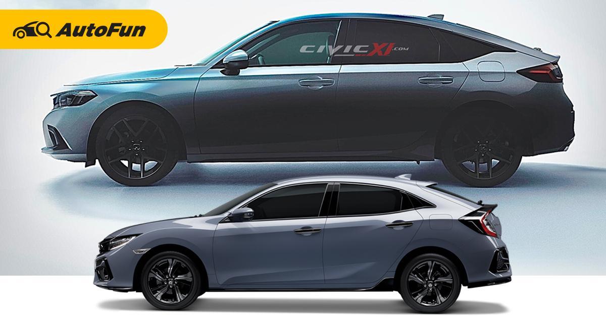 ชัดเจนเต็มตา 2022 Honda Civic Hatchback ใหม่เทียบรุ่นเก่าแล้วต้องรีบเก็บเงิน! 01