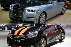 เทียบสเปครถถูกสุดกับแพงสุด Suzuki Celerio กับ Rolls-Royce Phantom ต่างกัน 53 ล้านบาทเชียวนะ