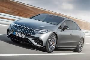 Mercedes-AMG EQS 53 ท้าตี Tesla Model ด้วย AMG Dynamic Plus เสริมความแรงอีก 100 แรงม้า