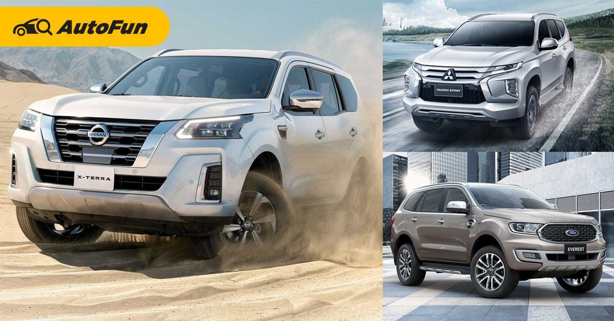 เทียบหน้าตา 2021 Nissan Terra - Mitsubishi Pajero Sport – Ford Everest พีพีวีมวยรอง 01