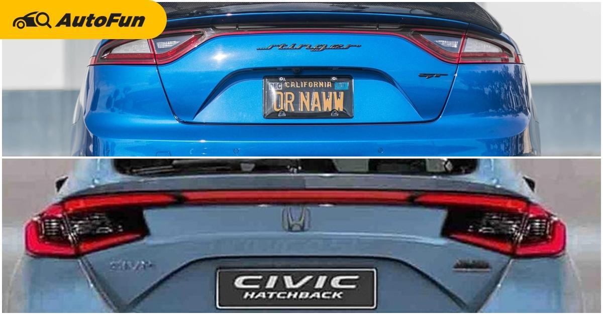 หลุดภาพท้าย 2022 Honda Civic Hatchback เหมือน Kia Stinger ไหมถามใจดู 01