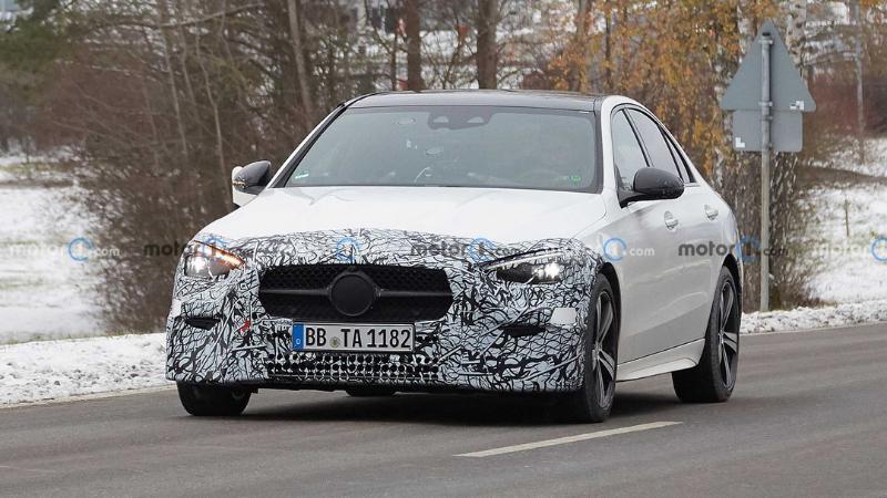 Spyshot 2021 Mercedes Benz C-Class W206 เปิดเส้นข้างสไตล์เรียบหรู 02