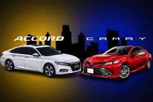 Check list : Toyota Camry VS Honda Accord เทียบสเปคตัวท็อป กว้าง-แรง-ไฮเทค ใครชนะ?