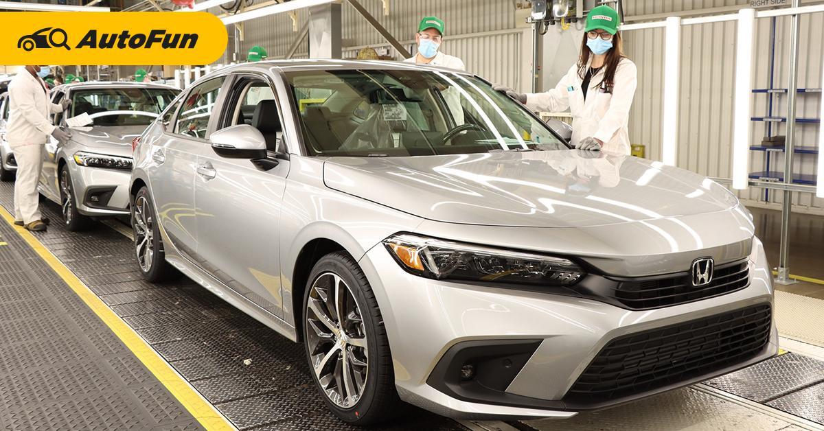 ขึ้นสายการผลิตแล้ว 2022 Honda Civic ใหม่ คนไทยรอลุ้นจะได้ยลโฉมตัวจริงเมื่อไหร่ 01