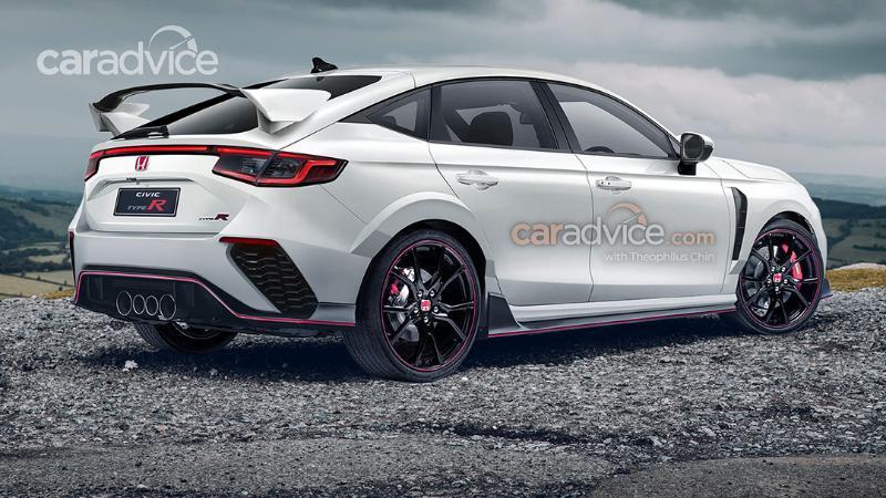 2022 Honda Civic Type R เรนเดอร์ล่าสุด เผยสเปกถูกใจสาวกเหยียบคลัตช์-ยัดเกียร์ 02