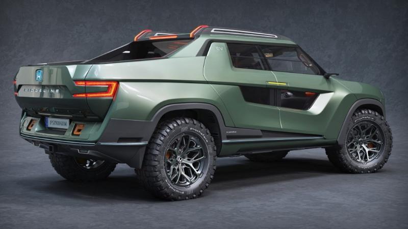 พาชม Honda Ridgeline EV Concept ถ้าทำจริง Tesla Cyberytruck และ Ford F-150 Lightning คงโอดโอย 02