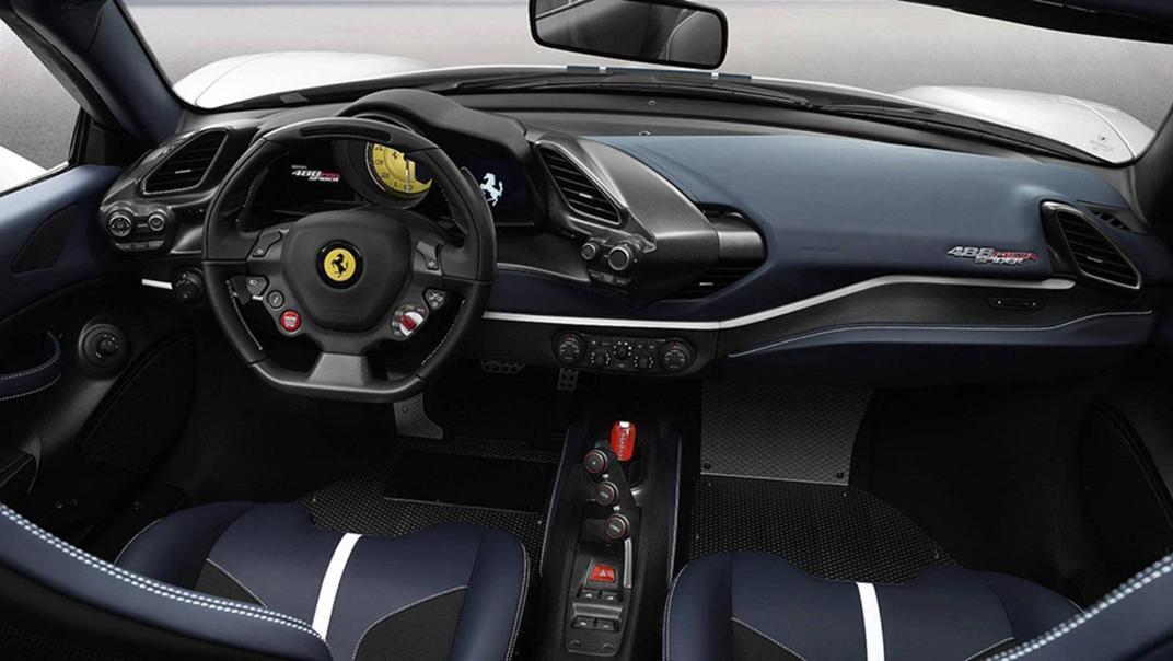 2020 3.9 488 Pista Spider V8 Interior 001