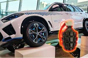 BMW ทดสอบความแข็งแรงรถไฮโดรเจน นำระเบิดติดใต้ท้องรถ และนี่คือผลลัพธ์การทดลองนี้