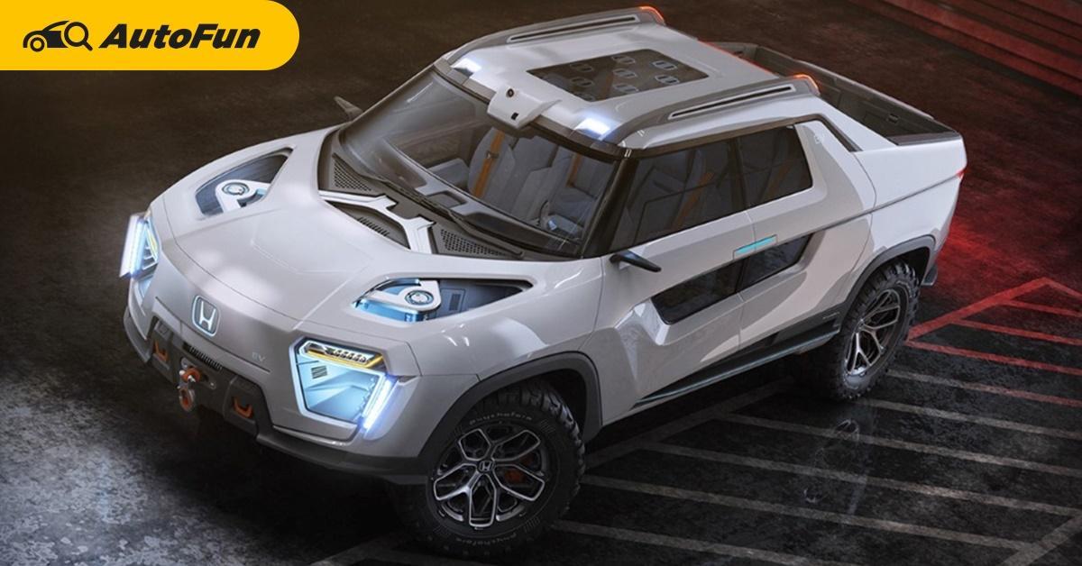 พาชม Honda Ridgeline EV Concept ถ้าทำจริง Tesla Cyberytruck และ Ford F-150 Lightning คงโอดโอย 01