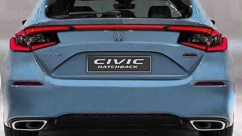 หลุดภาพท้าย 2022 Honda Civic Hatchback เหมือน Kia Stinger ไหมถามใจดู 02
