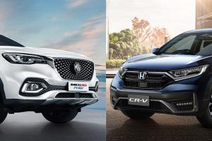 2020 MG HS PHEV ปะทะ Honda CR-V คุณจะเลือกชื่อชั้นแบรนด์หรือคุณสมบัติตัวรถ?