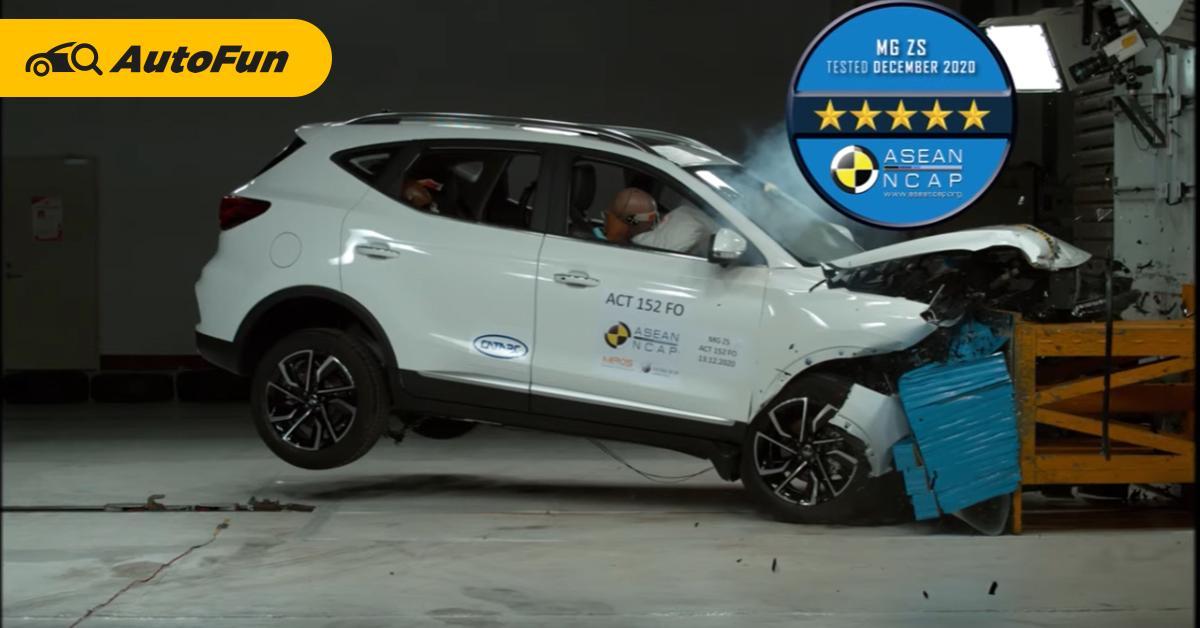 2020 MG ZS ผ่าน 5 ดาวเต็มความปลอดภัย แต่ยังตามหลัง Toyota Corolla Cross 01