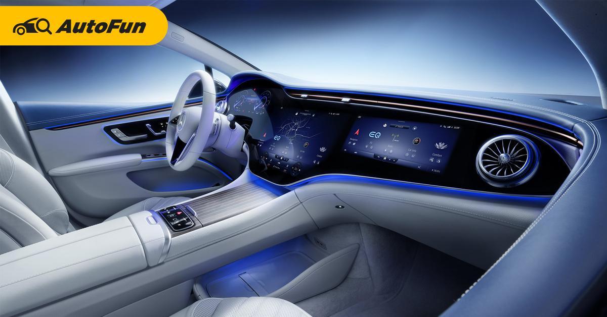 2021 Mercedes-Benz EQS เผยภาพห้องโดยสารสั่งสอน Tesla ลักชัวรี่ของแท้ต้องแบบนี้ 01