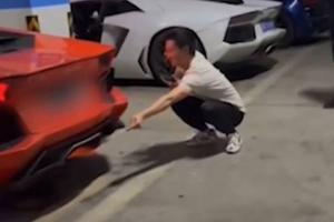 หมูปิ้งไม้ละ 2.5 ล้าน! หนุ่มจีนเร่ง Lamborghini พ่นไฟปิ้งหมู หม้อน้ำแตกซ่อมเป็นล้าน