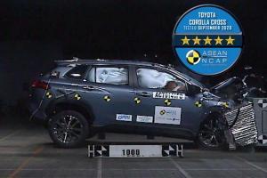 2020 Toyota Corolla Cross คว้า 5 ดาวความปลอดภัย – ปกป้องลำตัวจากการชนด้านหน้าพอใช้