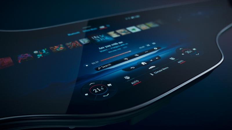 Mercedes-Benz เปิดตัว MBUX Hyperscreen จอยาวพาดเต็มแดชบอร์ด เตรียมใช้ครั้งแรกกับ EQS 02