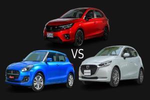 Honda City Hatchback, Suzuki Swift, Mazda 2 Hatchback คันไหนคุ้ม คันไหนโดนใจ