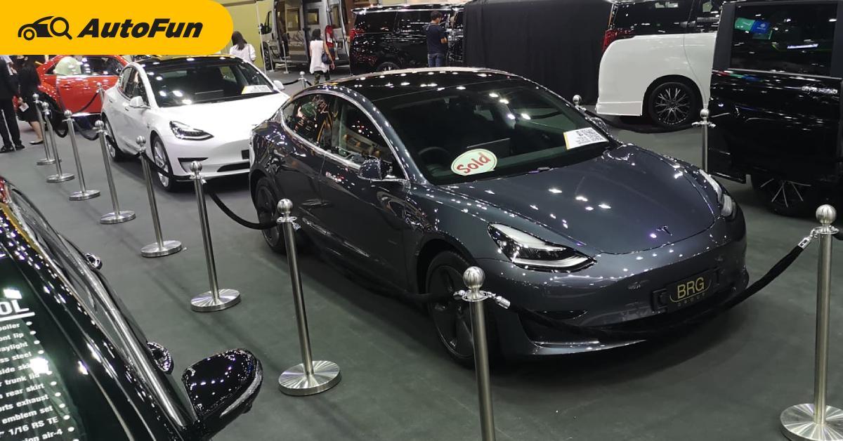 ชมคันจริง Tesla Model 3 สเปคพวงมาลัยขวา เปิดราคา 2.99-3.09 ล้านบาท รถมีข้อเสีย แต่ขายหมดแล้วนะ 01