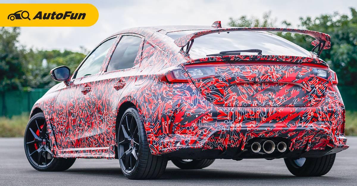ทีเซอร์ 2022 Honda Civic Type R ยังคงใช้ท่อ 3 ชุด ลุ้นขุมพลังโหดขึ้น 01