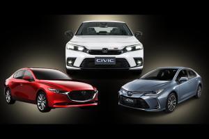 Check list : 2022 Honda Civic RS vs Toyota Corolla Altis vs Mazda3 ชนตัวท็อป พบว่าต่างเยอะ