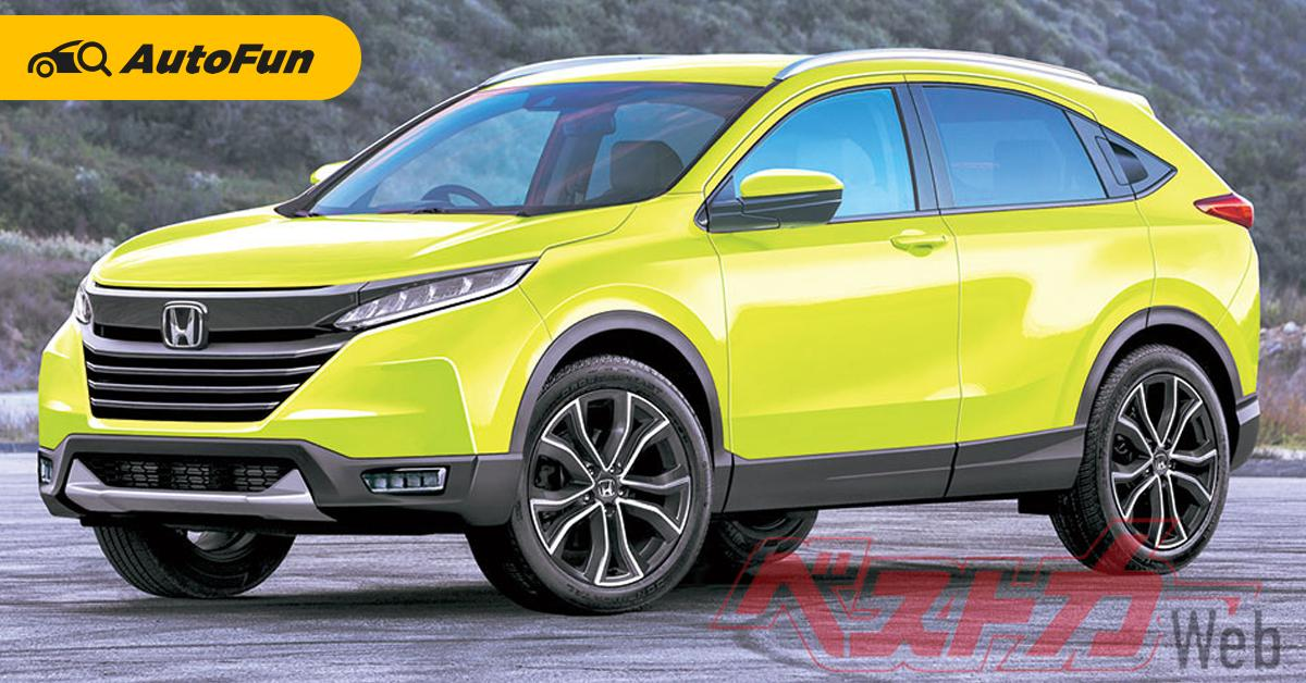 ภาพเรนเดอร์ 2021 Honda HR-V ควงรถเอสยูวีรุ่นเล็กท้าชน Toyota Corolla Cross และ Yaris Cross 01