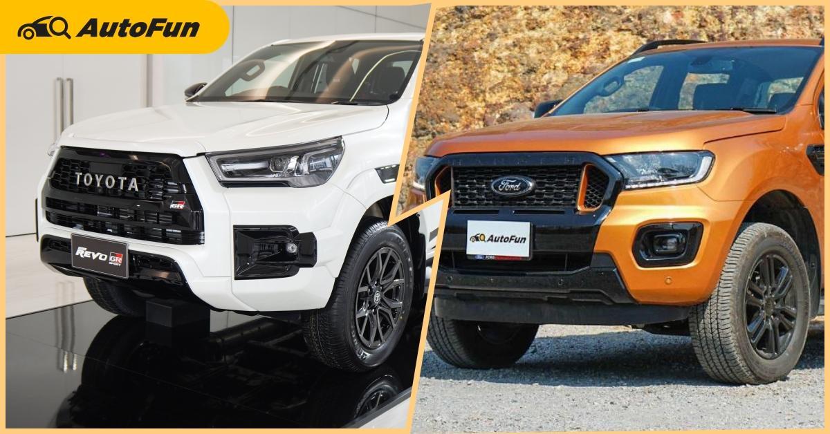 Check list : 2021 Toyota Hilux Revo GR sport VS 2021 Ford Ranger Wildtrak มีผลพลิกล็อค 01