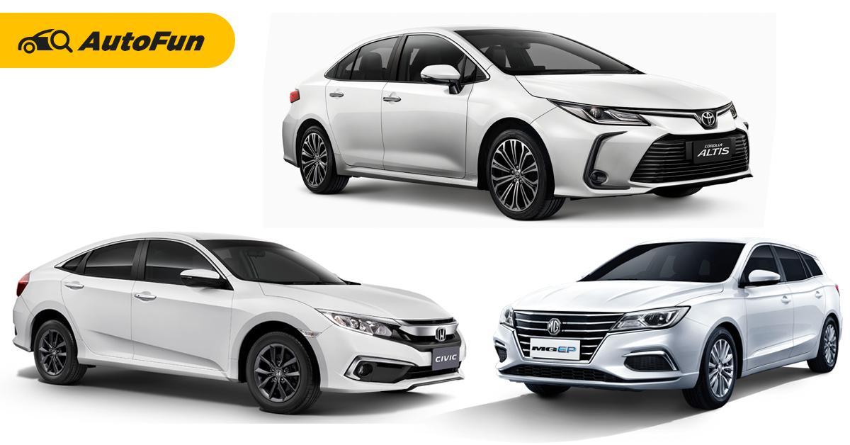 งบ 1 ล้านบาท ถ้าไม่เลือก Toyota Corolla Altis ควรหันไปคบ Honda Civic หรือ MG EP หรือไม่? 01