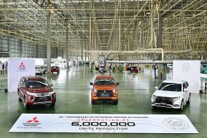 Mitsubishi ฉลอง 60 ปี แต่ง Mirage, Attrage ฯลฯ ด้วยสีแดงสด Limited Edition