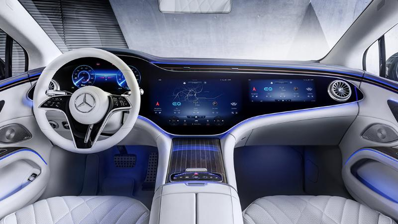 2021 Mercedes-Benz EQS เผยภาพห้องโดยสารสั่งสอน Tesla ลักชัวรี่ของแท้ต้องแบบนี้ 02