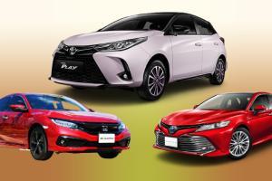 Top 3 รถเก๋งขายดีสุดในไทย ก.ค. 64 พบว่า Toyota Yaris สุดในรุ่น แต่รวมแล้ว Honda นำขาดลอย