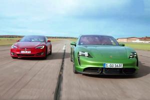 Porsche Taycan แข่งชนะ Tesla Model S แบบหักมุม ทั้งที่แรงม้าน้อยกว่า ทำได้ยังไงกันเนี่ย