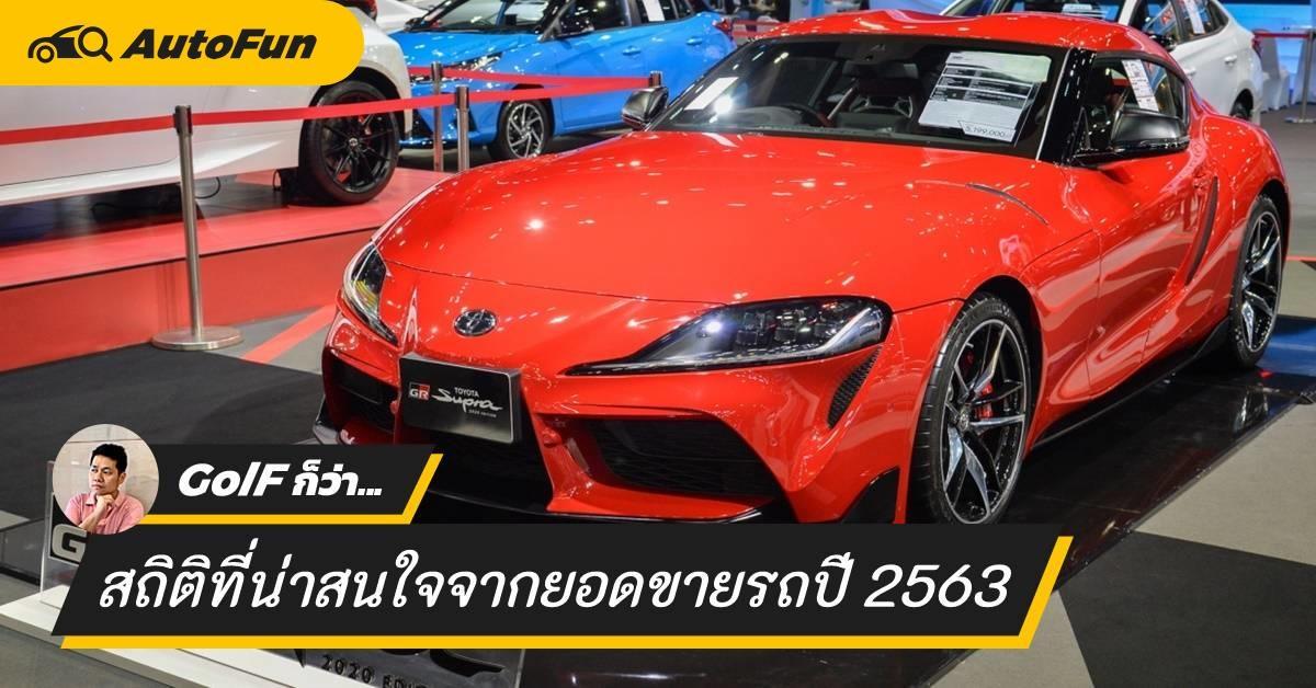 เปิดสถิติที่น่าสนใจ จากยอดขายรถยนต์ในประเทศไทยปี 2563 01
