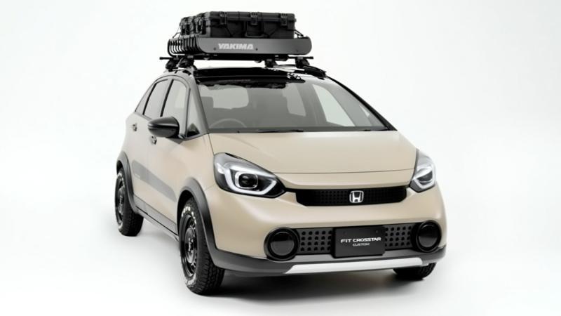 ปล่อยภาพรอบคัน 2021 Honda Jazz e:HEV ต้นแบบยกสูง แต่งเต็มเตรียมตะลุยจุดกางเต็นท์ 02