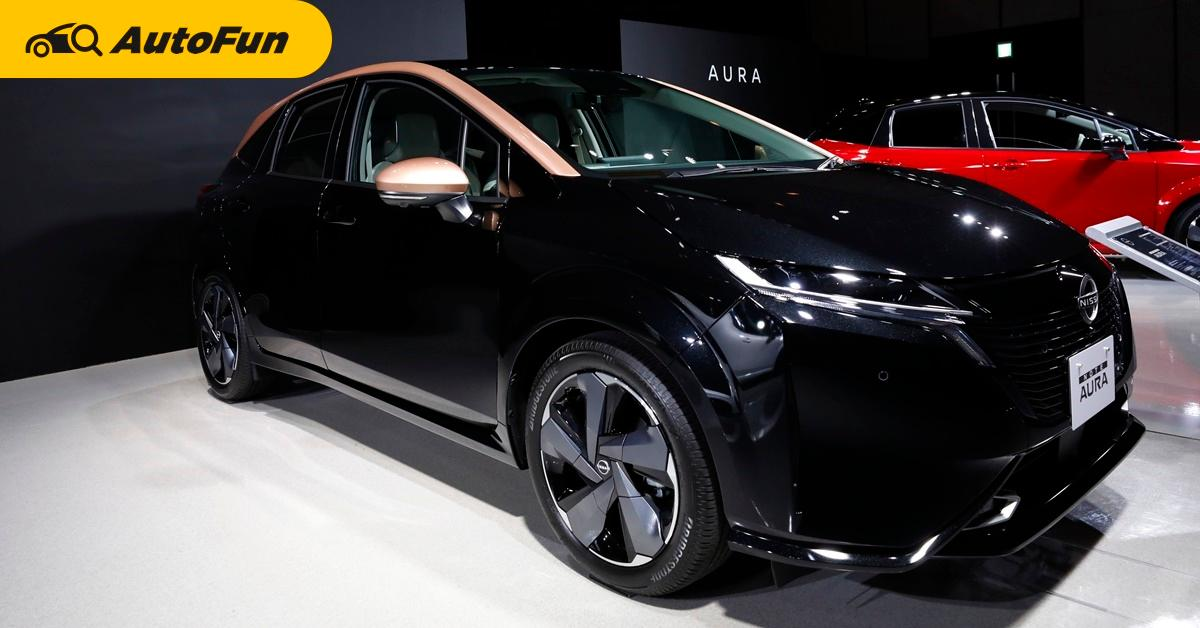พาชม 2021 Nissan Note Aura รุ่นพิเศษ สีทูโทน พร้อมอี-พาวเวอร์ มาไทยใช้เครื่อง Almera ลุยอีโคคาร์ได้ไหม 01