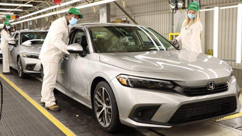 ขึ้นสายการผลิตแล้ว 2022 Honda Civic ใหม่ คนไทยรอลุ้นจะได้ยลโฉมตัวจริงเมื่อไหร่ 02