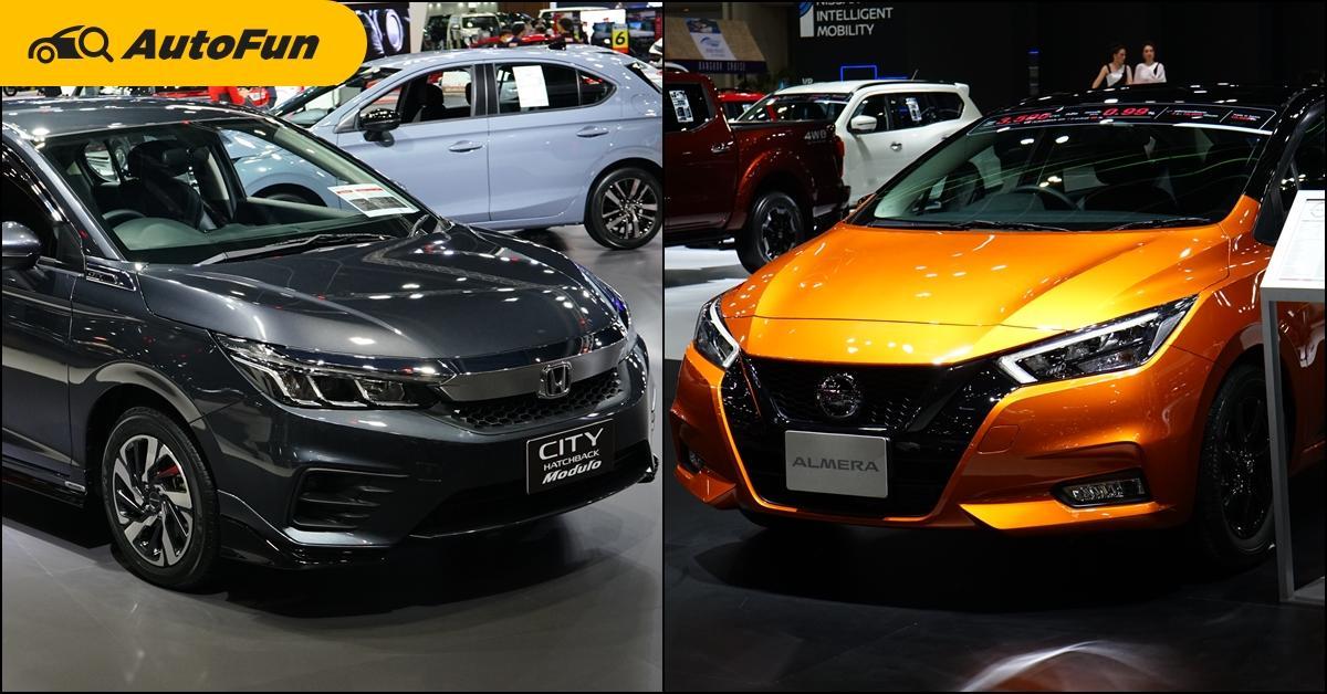 เทียบรุ่นแต่ง 2021 Honda City Modulo VS Nissan Almera N-Sport ราคาเพิ่ม 1-2 หมื่น เราแนะนำให้รอตัว Nismo ดีกว่า 01