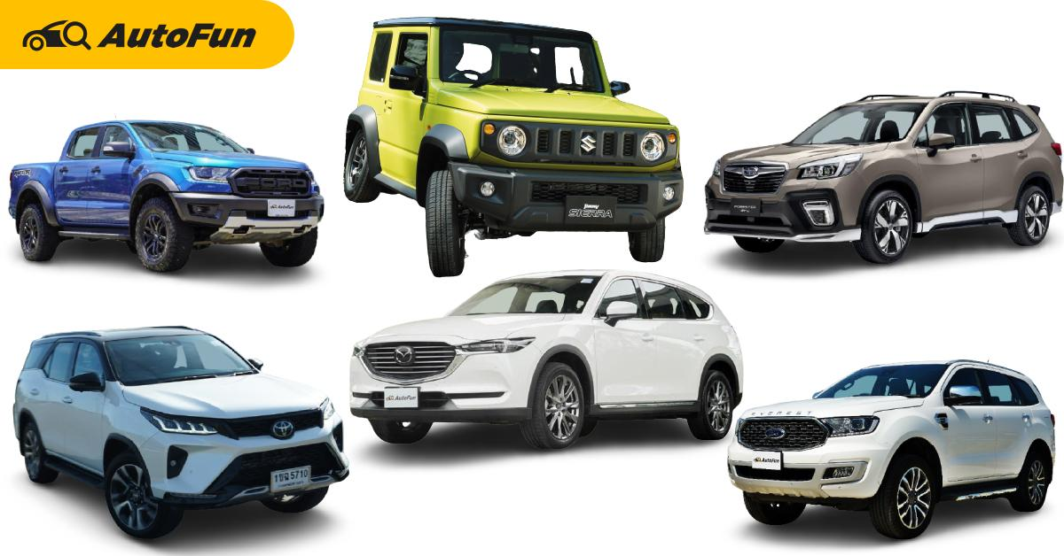 Top 5 รถใหม่น่าซื้อ สำหรับใครที่จอง 2021 Suzuki Jimny ไม่ทัน ในงบเท่ากัน 1.7 ล้านบาท 01