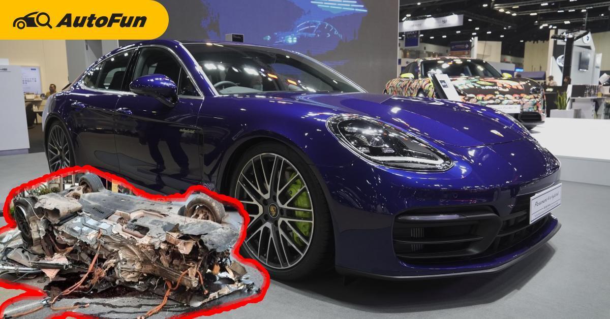หลวงพ่อไม่ต้องมา Porsche Panamera ชนยับคนขับเจ็บนิดเดียว แต่เสียหายหลายแสน 01