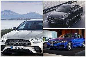 2021 Mercedes Benz E-Class ปะทะ BMW 5 Series และ Volvo S90 ศึกรถหรูขนาดกลาง กินกันยากนะงานนี้