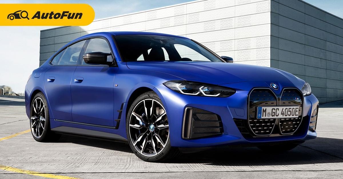 พาชม 2022 BMW i4 M50 รถยนต์ไฟฟ้าพลังโหดอาจทำคุณลืมเครื่องยนต์สันดาป 01