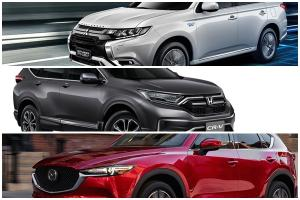 เทียบเอสยูวี-ซีตัวท็อป Mitsubishi Outlander PHEV – Mazda CX-5 – Honda CR-V กว่า 1.7 ล้านบาท คันไหนมีอะไรดี?