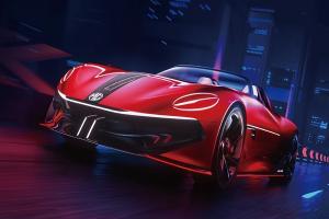 MG เผยคอนเซปท์สปอร์ตไฟฟ้าคันใหม่ MG Cyberster วิ่งไกล 800 กม.