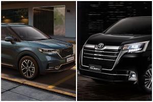 ใหม่และแพงกว่า 2021 Kia Carnival ปะทะ Toyota Majesty ห่างกัน 260,000 จะเลือกคันไหน?