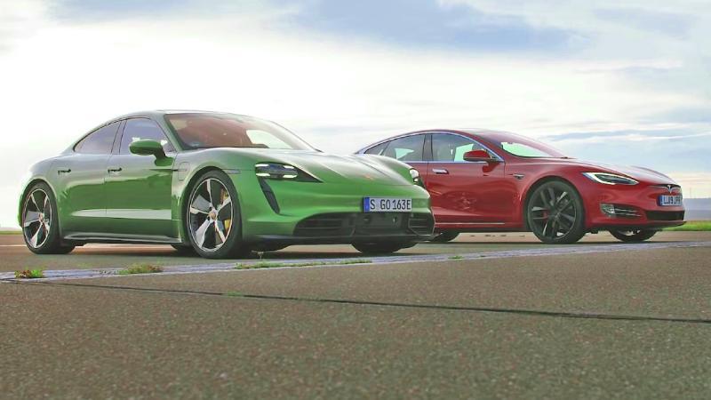 เอาคู่แข่งมายำโดย Porsche นำรถ Tesla Model S ให้ลองขับเทียบกับ Taycan ออกสื่อซะเอง 02