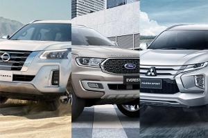 เทียบหน้าตา 2021 Nissan Terra - Mitsubishi Pajero Sport – Ford Everest พีพีวีมวยรอง